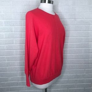J. Crew Sweaters - J. Crew Collection Cashmere Seamed Sweater Red M